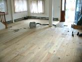 floor installed ready for sanding and poly