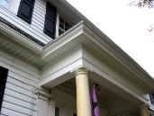 close up of new portico