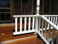 due to post location and stair layout the new railing system had to customized to fit and reach
