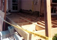 floor framing is done ready for flooring